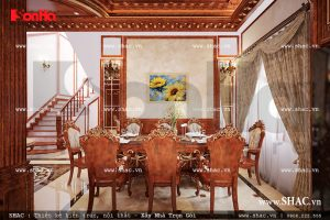 Bộ bàn ăn kiểu Pháp