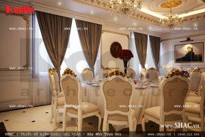 Nội thất phòng ăn kiểu Pháp