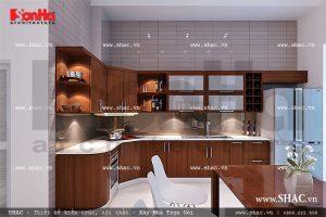 Tủ bếp phòng ăn chữ L