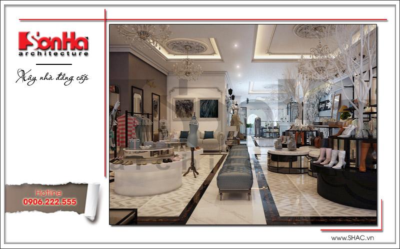 Choáng ngợp với không gian shop quần áo rộng và vô cùng sang trọng tại nhà phố cổ điển Hà Nội