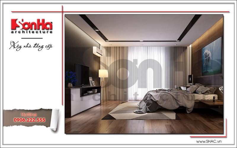Mẫu thiết kế nội thất phòng ngủ hiện đại gam màu trẻ trung tinh tế