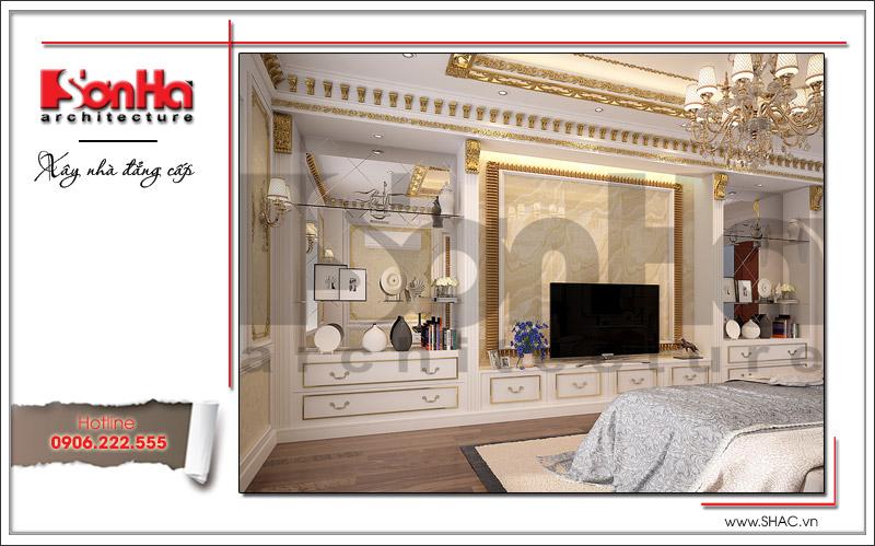 Mẫu phòng ngủ sang trọng có thiết kế nội thất ngăn nắp