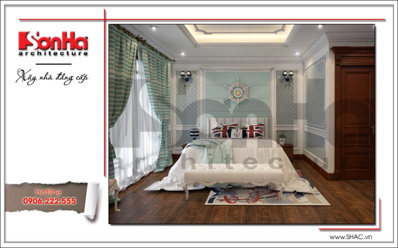 Cá tính với màu sắc trang trí trẻ trung ấn tượng là những gì thể hiện qua mẫu thiết kế nội thất phòng ngủ con trai