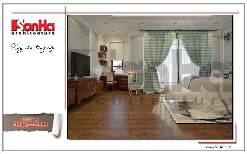 Không gian phòng ngủ được bày trí nội thất khoa học và tăng tính tiện nghi cao