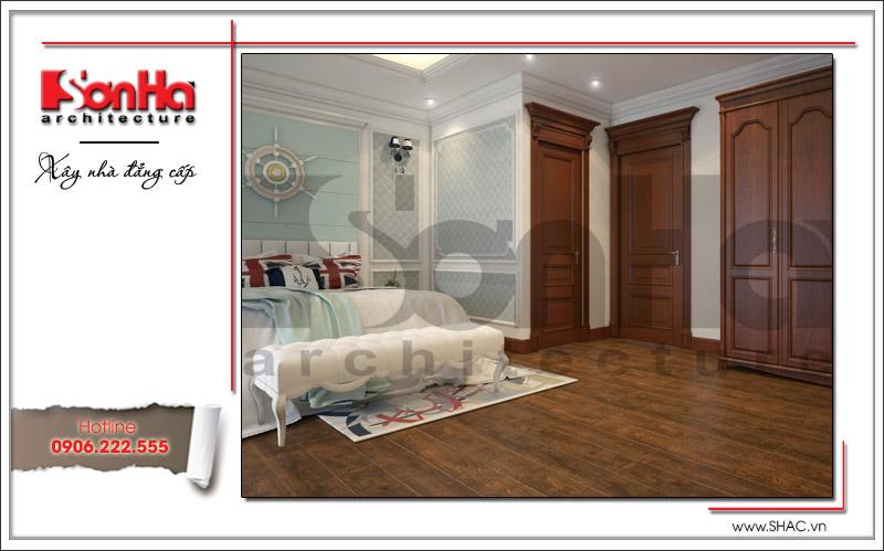 Phương án thiết kế nội thất phòng ngủ cổ điển của biệt thự Pháp tại Quảng Ninh