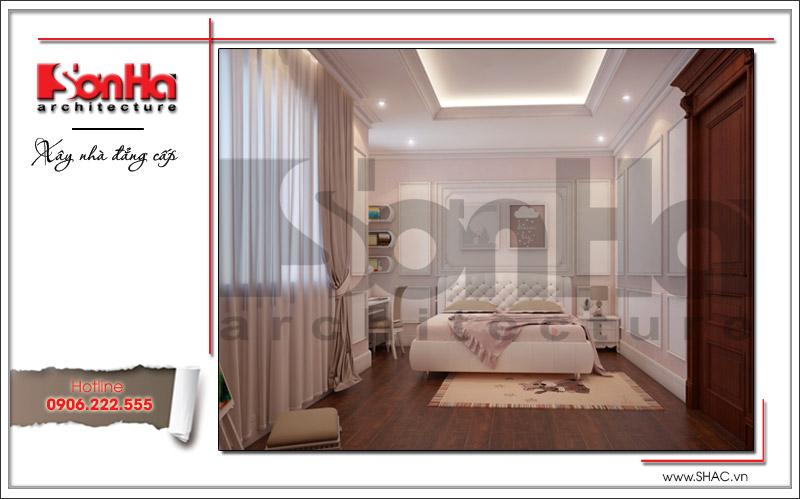 Mẫu thiết kế nội thất phòng ngủ con gái xinh xắn trong không gian nhỏ tại biệt thự