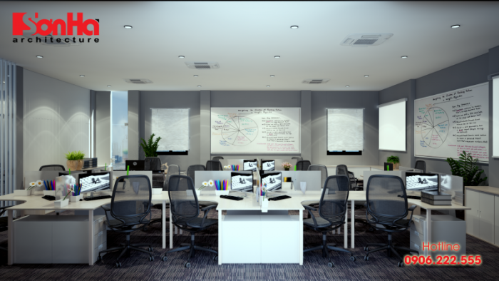 Chỗ ngồi của nhân viên phải đảm bảo được sự thoải mái, rộng rãi và thuận tiện