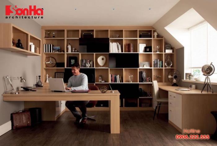 Thiết kế phòng làm việc cá nhân tại nhà sẽ giúp bạn có hiệu quả giải quyết