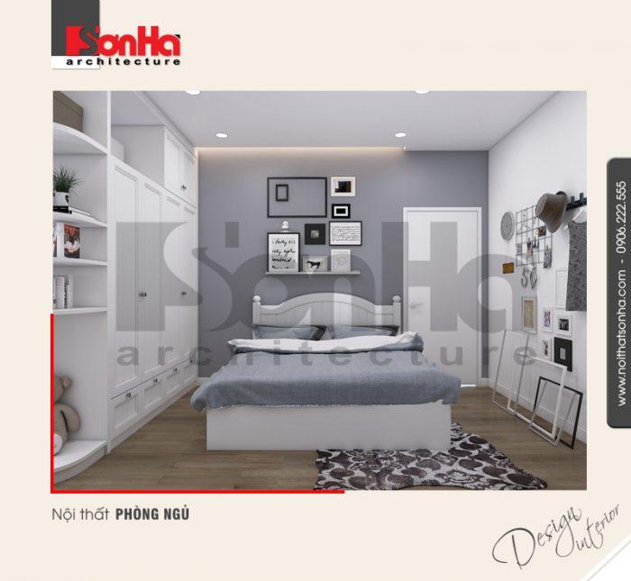 Phòng ngủ dành cho con cũng hết sức ngăn nắp và thoáng đãng của căn hộ hiện đại cao cấp