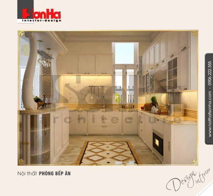 2.Mẫu nội thất phòng bếp ăn bố trí tiện ích