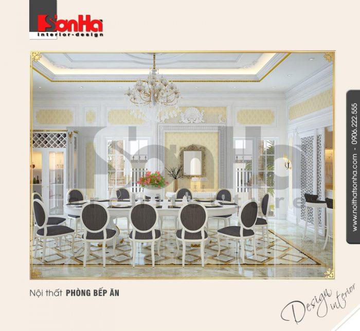 3.Thiết kế nội thất phòng ăn cổ điển đẹp