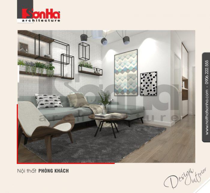 Phương án thiết kế ấn tượng của mẫu phòng khách căn hộ chung cư xu hướng 2018