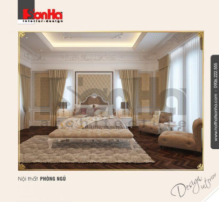 4.Mẫu nội thất phòng ngủ biệt thự cổ điển nhẹ nhàng