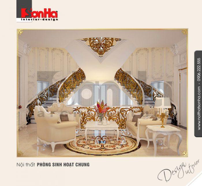 9.Thiết kế nội thất phòng sinh hoạt chung sang trọng
