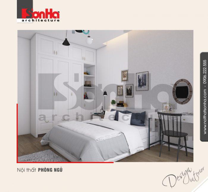 Mẫu nội thất chung cư phong ngủ hiện đại không quá cầu ky về cách bố trí vật dụng