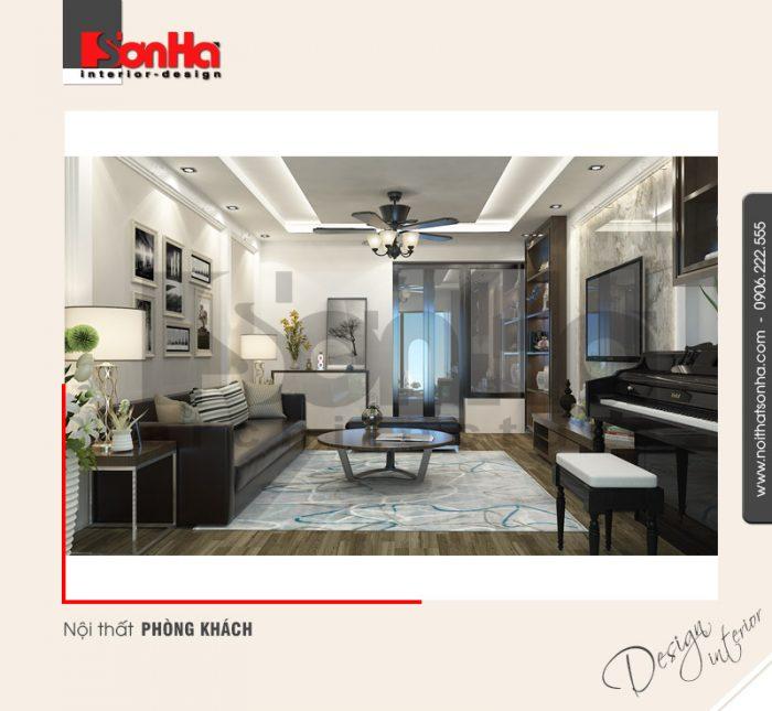 Mẫu thiết kế nội thất phòng khách nhà phố hiện đại đẹp được đánh giá cao từng tiểu tiết