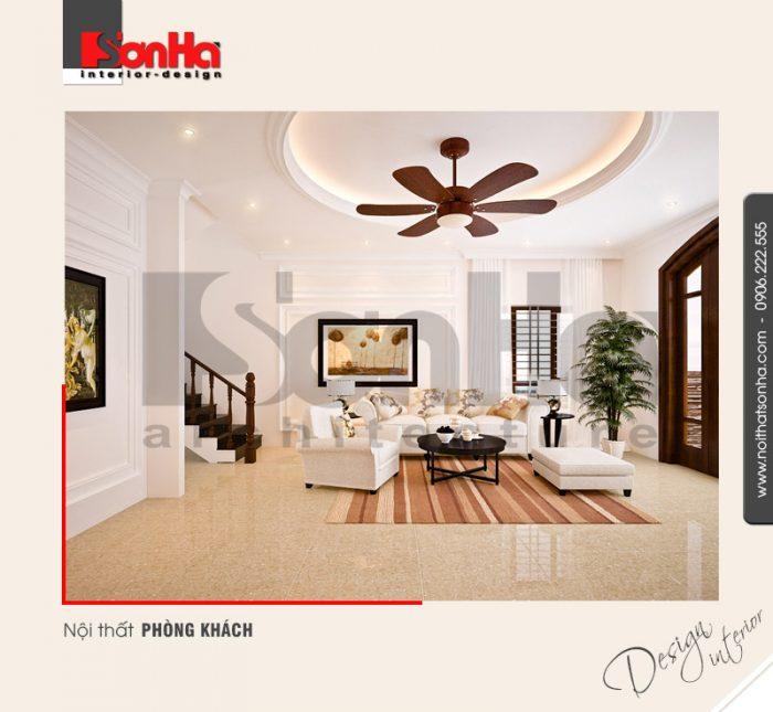 Phương án thiết kế nội thất biệt thự tân cổ điển đẹp với bố trí phòng khách khoa học phù hợp