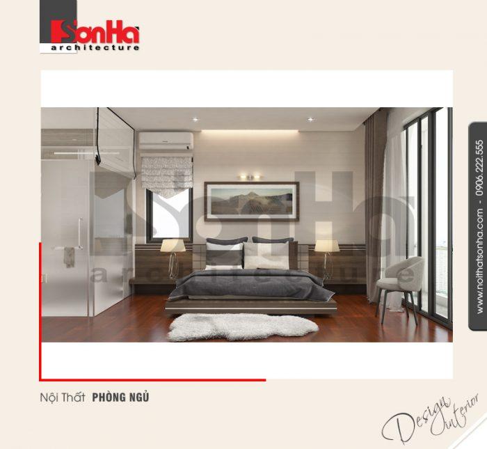 Mẫu thiết kế nội thất phòng ngủ phong cách hiện đại tiện nghi với gam mày phù hợp xu thế mới