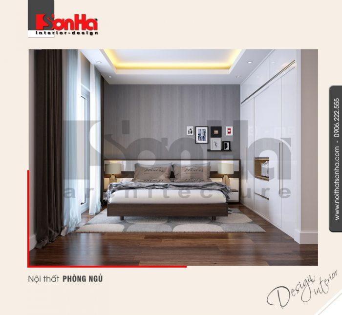 Sự giản dị nhưng có chiều sâu đã làm toát lên cốt cách sang trọng của mẫu phòng ngủ hiện đại
