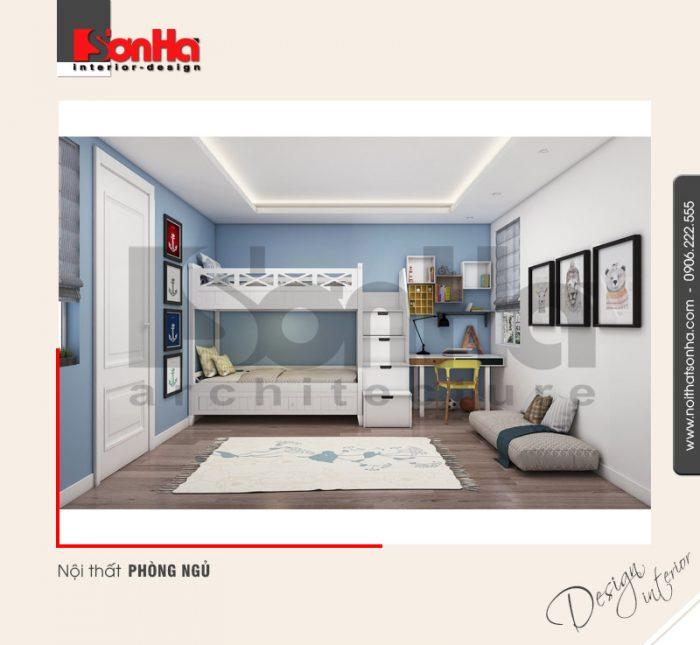 Mẫu phòng ngủ này cũng rất được yêu thích cho xu hướng thiết kế phòng ngủ căn hộ