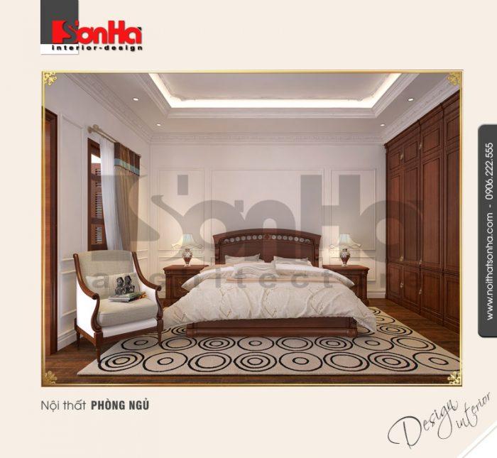 Mẫu phòng ngủ chung cư được thiết kế giản dị nhưng vẫn toát lên nét sang trọng ấm cúng
