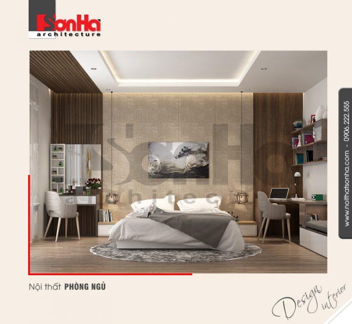 Thêm một điển hình trong thiết kế nội thất phòng ngủ hiện đại biệt thự cao cấp của SHAC
