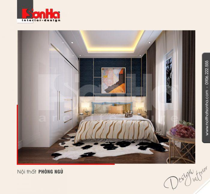 Thiết kế nội thất phòng ngủ hiện đại phá cách với việc sử dụng các gam màu độc đáo ấn tượng
