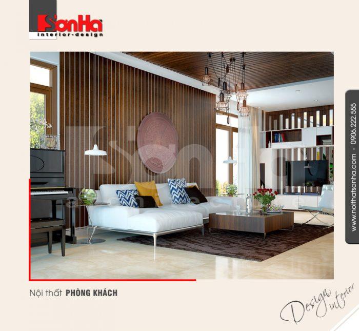 Phương án thiết kế được đánh giá cao của mẫu phòng khách biệt thự hiện đại và sang trọng
