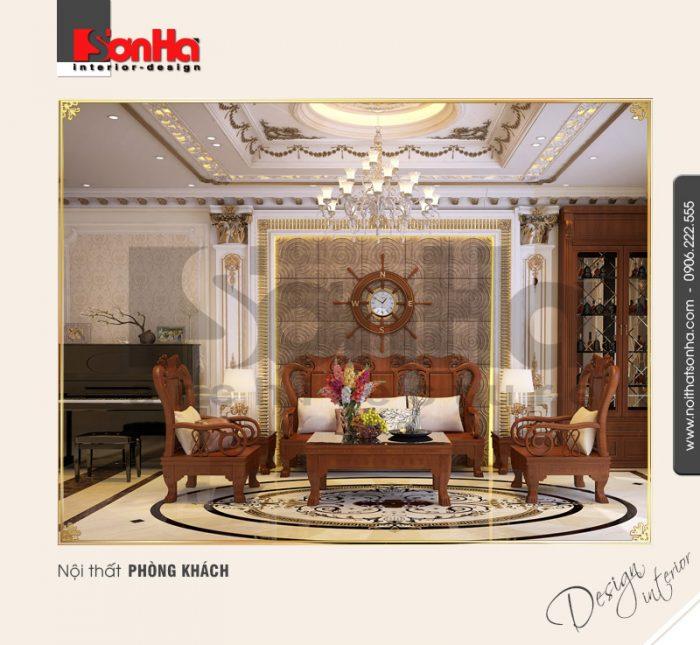 Mẫu thiết kế phòng khách nhà phố cổ điển được đánh giá cao từ mọi góc đặt mắt bất kỳ
