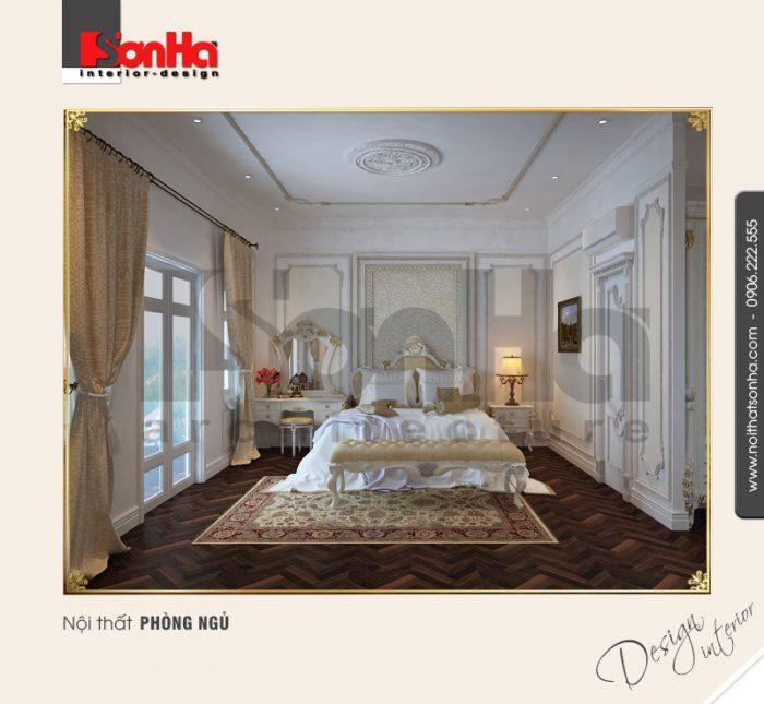 Thiết kế thi công nội thất biệt thự cổ điển với giấy dán tường cao cấp thi công đúng cách
