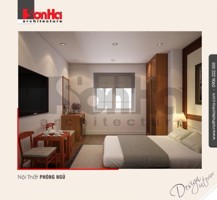 Đây cũng lầ một phương án thiết kế nội thất phòng ngủ khách sạn được đánh giá cao
