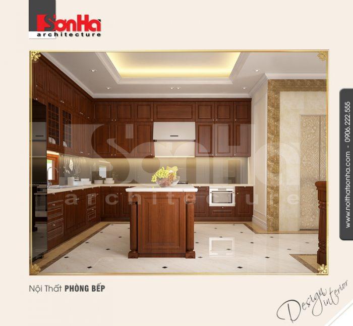 Nội thất phòng bếp ăn của căn hộ diện tích nhỏ được thiết kế theo quan điểm hướng mở