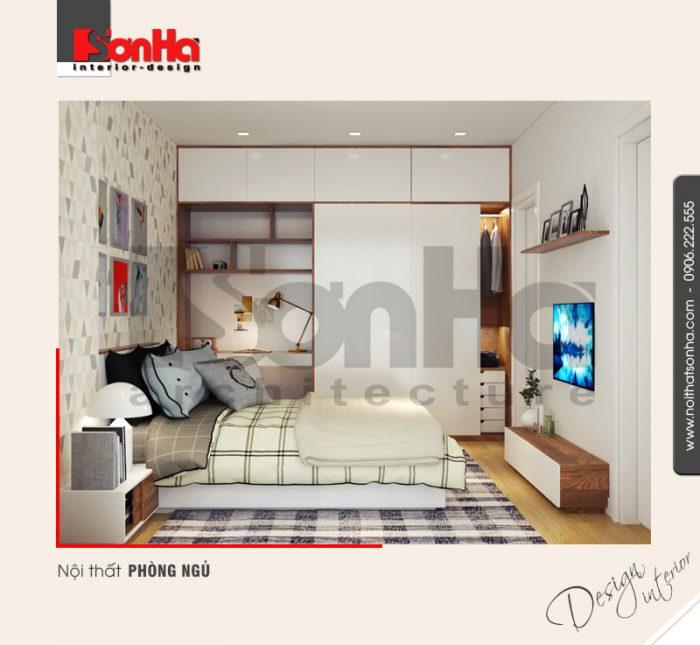 Mẫu phòng ngủ đẹp cho căn hộ diện tích nhỏ được thiết kế theo phong cách hiện đại tinh tế