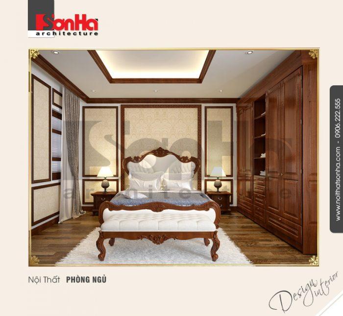 Sự tinh tế được cảm nhận một cách rõ nét trong phương án thiết kế nội thất phòng ngủ cổ điển