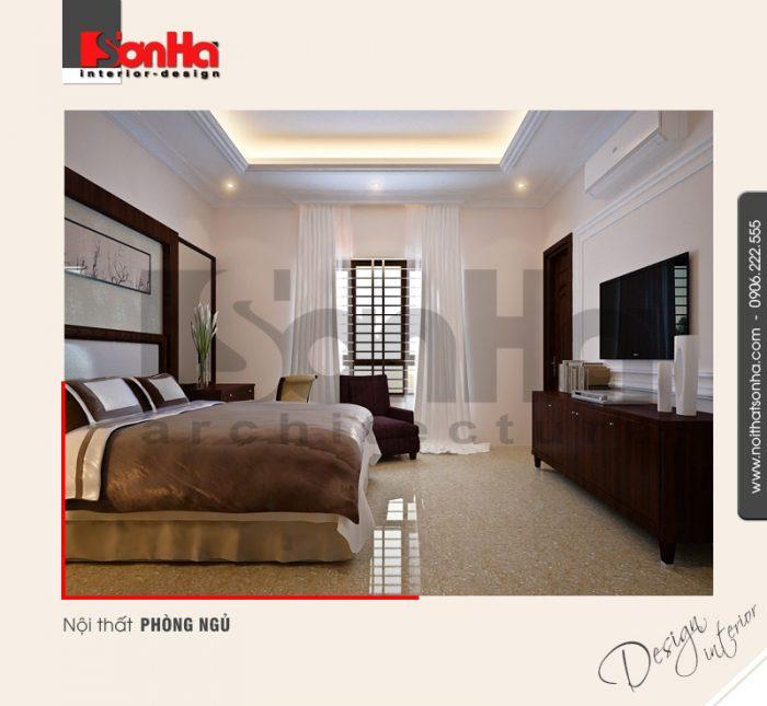Đây cũng là mẫu thiết kế phòng ngủ rất được yêu thích trong không gian nội thất biệt thự