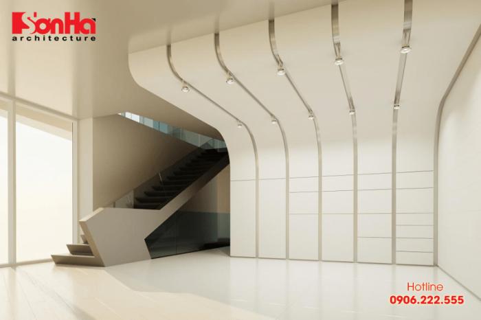 Trần thạch cao được ứng dụng nhiều trong thiết kế nội thất hiện đại của văn phòng