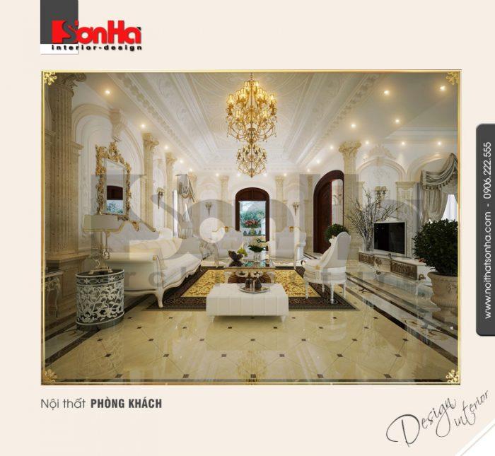 1.Thiết kế nội thất phòng khách cổ điển tại hải phòng NT BTP 0005