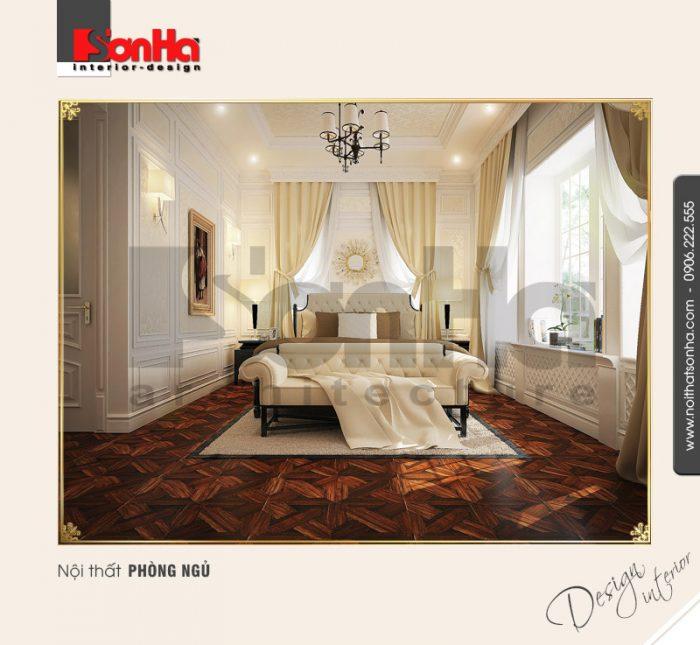 Phương án thiết kế tinh tế và ấn tượng của mẫu phòng ngủ biệt thự cổ điển xa hoa lộng lẫy