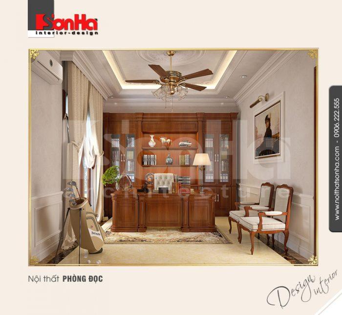 Thiết kế nội thất phòng đọc cổ điển tại quảng bình NT BTP 0099