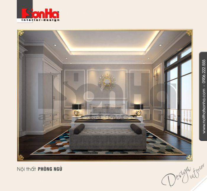 Đây cũng là thiết kế được đánh giá cao của mẫu phòng ngủ biệt thự phong cách cổ điển