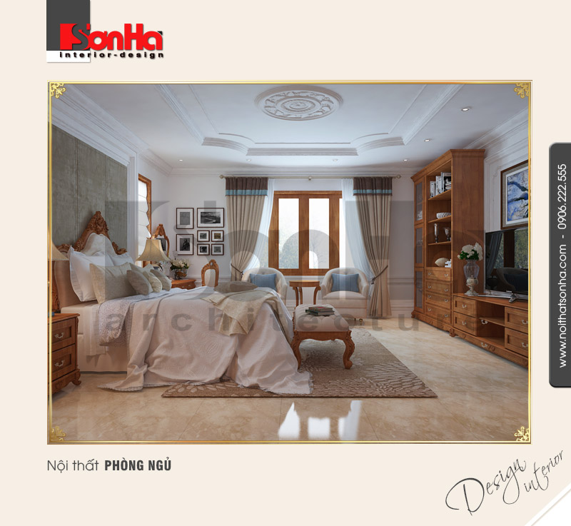 13.Thiết kế nội thất phòng ngủ cổ điển tại quảng bình NT BTP 0099