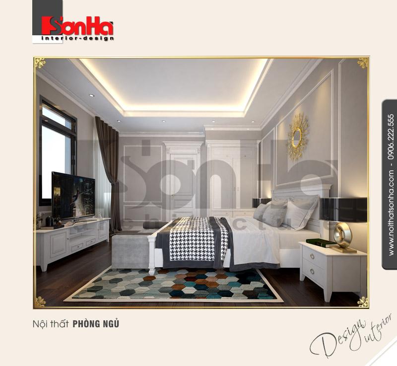 Thiết kế nội thất phòng ngủ 3 biệt thự Pháp tại khu đô thị Vinhome Imperia Hải Phòng