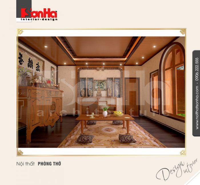 Thiết kế nội thất phòng thờ cổ điển tại quảng bình NT BTD 0008