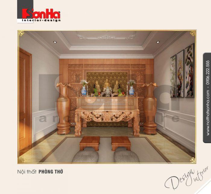 Thiết kế nội thất phòng thờ cổ điển tại quảng bình NT BTP 0099