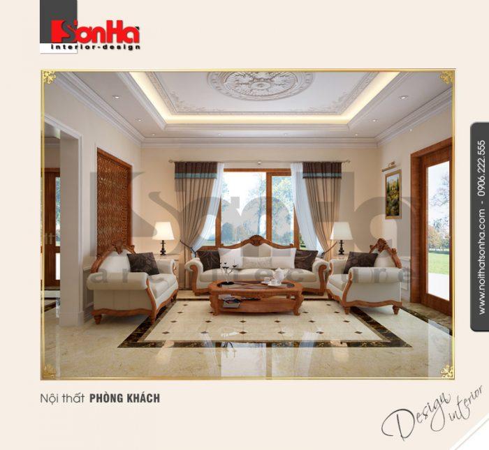 2.Mẫu nội thất phòng khách cổ điển tại quảng bình NT BTP 0099