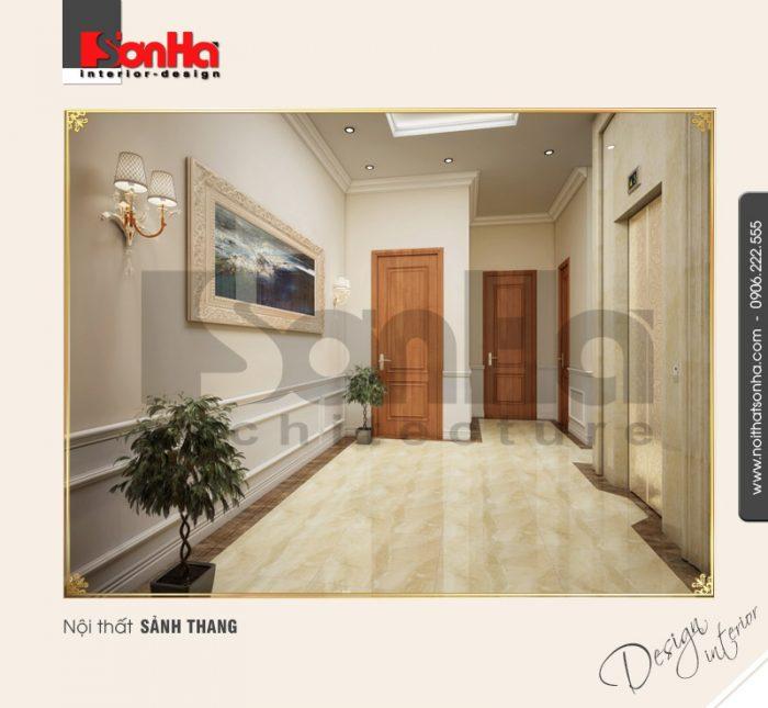 Thiết kế nội thất sảnh thang cổ điển tại quảng bình NT BTP 0099