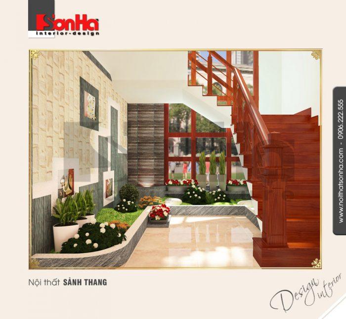 Thiết kế nội thất sảnh thang cổ điển tại quảng bình NT BTD 0008