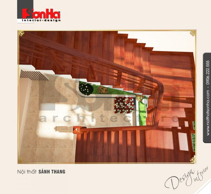 Mẫu nội thất sảnh thang cổ điển tại quảng bình NT BTD 0008