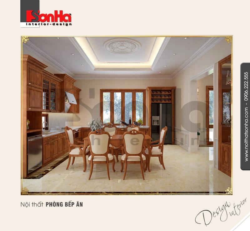 3.Thiết kế nội thất phòng bếp ăn cổ điển tại quàng bình NT BTP 0099