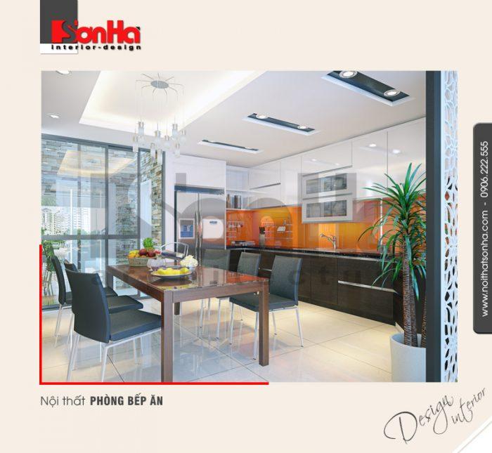 3.Thiết kế nội thất phòng bếp ăn hiện đại tại hải phòng NT NOD 0055
